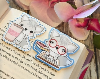 Cute White Fox Bookmarks