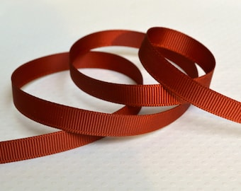 "Cappuccino Grosgrain Ribbon. 3/8"" Width. Narrow Grosgrain Ribbon. 5 Yards. No. 868"