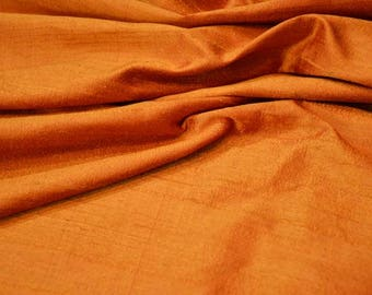 Golden Yellow Raw Silk Fabric