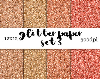 Glitter Digital Paper Set 3 - Digital Download