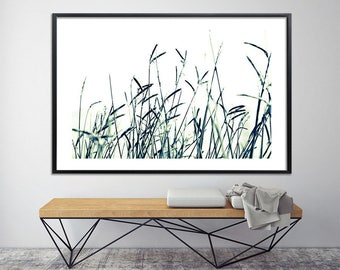 Large art, Grass 2 Large Canvas Print, Giclee Print up to 40X60, huge wall decor, nature prints by Duealberi black and white