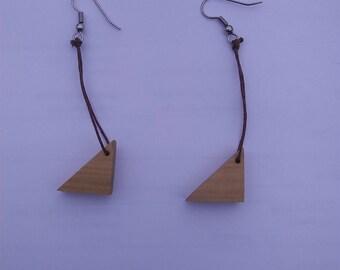 Handmade Yellow Poplar Wood Earrings