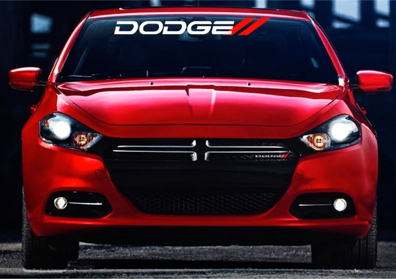 Dodge Front Windshield Banner Decal Stickers With Red - Front window stickers for car