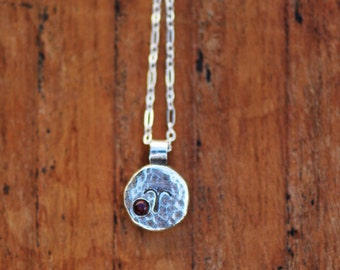 Element Aries Zodiac Necklace- Sterling Silver