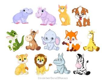 Cute Animal clipart Kids clipart Cute clipart Safari Animal clipart animal png  Wild animals kids clip art Cute clip art