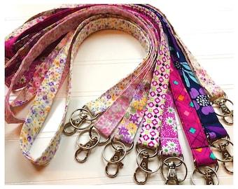 Lanyard, Fabric Lanyard, ID Badge Holder, Key Holder - Choose your design [32-39]