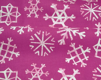 Snowflakes in Grape Purple - Garland collection by Cotton + Steel - fabric by the fat quarter, half yard, yard or more
