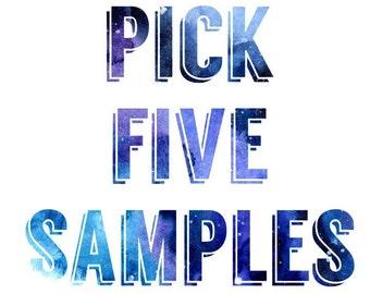 Pick 5 Test Tube Eyeshadow Samples