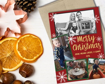 Custom Flat Holiday Note Cards / Holiday Christmas Cards / Family Cards / Friends and Family Custom Cards / With Photo