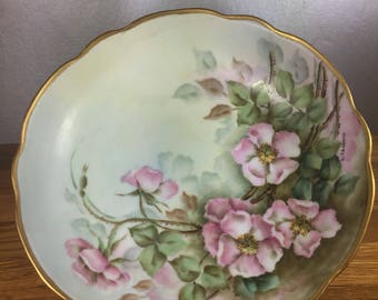 Hand Painted Porcelain Compote