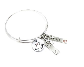 Family Charm Bracelet | personalized | custom jewelry | hand stamped | gifts for mom | mother | children