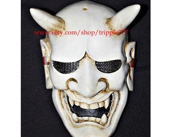 Hannya Kabuki mask, Airsoft mask, Halloween costume & Cosplay mask, Halloween mask, Steampunk mask, Wall mask, Samurai MA116 et