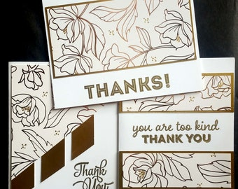 3 card set -Thank You Cards