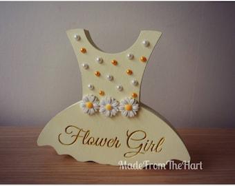 Freestanding Flower Girl Bridesmaid Dress Tutu Personalised