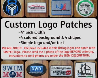 Personalized Patch Monogram Patch Custom Patches Iron On Patches Embroidered Patches Patches for Jackets Name Patch Company Logo Patch