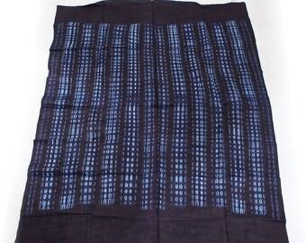 African Indigio Brocade Fabric