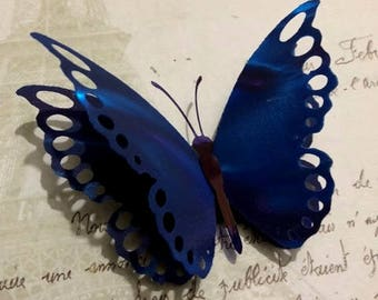 Beautiful Large Blue Butterfly Hair Clips, Hair Fascinators, Prom, Wedding, Bridesmaids, Wedding Decorations