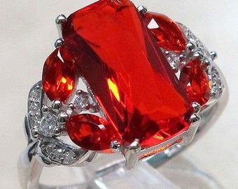 Garnet Ring  Size 11 Womens