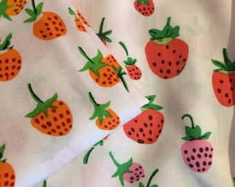 Heather Ross Strawberries Fat Quarter collection - 2 fat quarters, out of print and hard to find