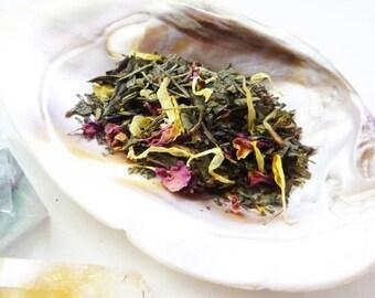 Tea Sample - Raspberry Imp -  Green loose leaf tea - Raspberry