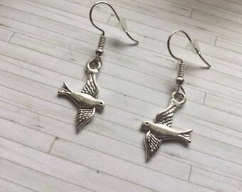 Swallow Earrings, Bird Earrings, Swallow Bird Earrings, Bird Jewellery, Birthday Gift, Gift for Her, Gift for Friend, Bird Lover