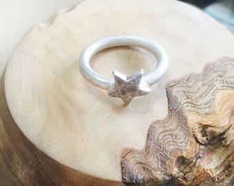 Solid Sterling Silver Star Ring