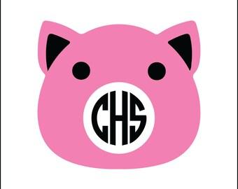 Pig Monogram Etsy