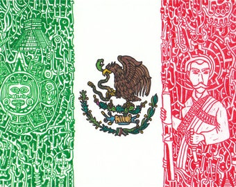 """Stickers of World Flags """"Mexico"""""""