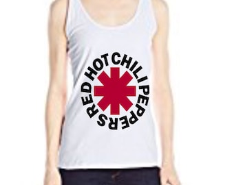 Red Hot Chili Peppers Red Glitter Tank Tank