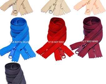 18 Inch 4.5 YKK Long Pull Handbag Zippers  Your Choice of Color (by Each) Select Color