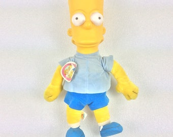 """Vintage Bart Simpson 20"""" Plush Doll New With Tag 1990 The Simpsons"""