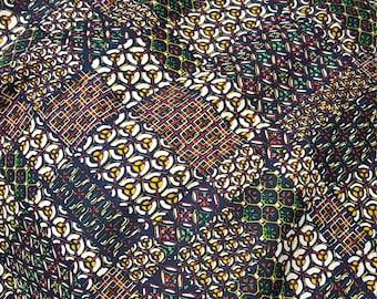 Patchwork wool kimono panel