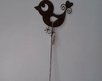 Whimsical Bird Garden Stake