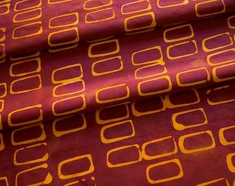 Forma:rectangles main teint et à motifs de tissu de coton Orange et framboise