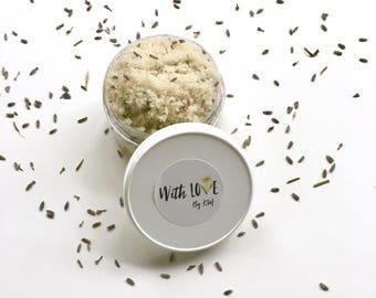 LAVENDER VANILLA Body Scrub | Lavender Vanilla Sugar Scrub | Organic Sugar Scrub | Lavender Vanilla | Natural Body Scrub | Vegan Body Scrub