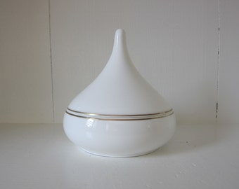 Vintage Jonal Bone China Covered Dish/Bowl Hershey Kiss Made in Japan