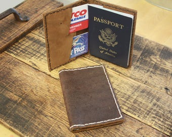 Leather Handmade Passport Wallet
