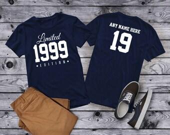 1999 Limited Edition 19th Birthday Party Shirt, 19 years old shirt, limited edition 19 year old, 19th birthday party tee shirt Custom