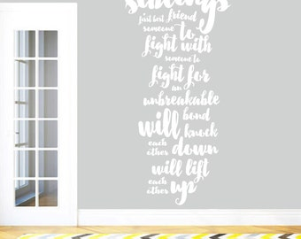 Siblings - Nursery and Kid's Room Quotes Wall Decals