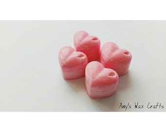 4 Heart, Shape, Pink, Candy Floss, Scented, Wax Melts
