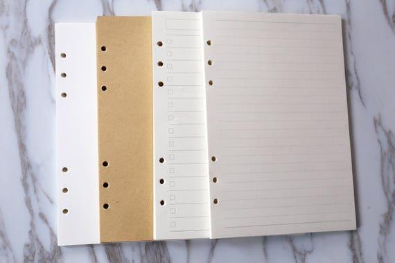 80 Seiten DIN A5 Planer Einsätze/Blank Einsätze /personal