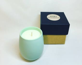 350mL Soy Mint Green Candle, Hand Poured