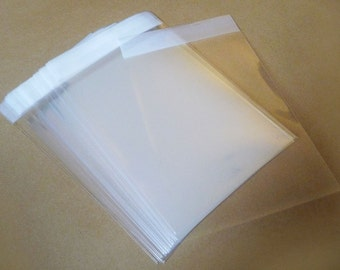 Set of 100pcs Clear Self Sealing Cello Poly Bag Envelope   2 inch X 2 3/4 inch(50mm X70mm) and 1 5/8 inch (flap)