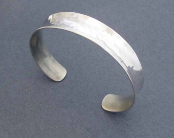 On Sale : Sterling Silver Cuff Bracelet Miminalist Jewelry Handmade Modern Jewelry Anticlastic Cuff Bangle Bracelet