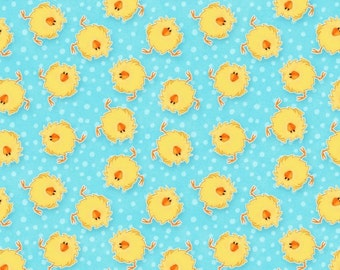 Hippity Hop Fabric by Henry Glass Easter Baby Chicks