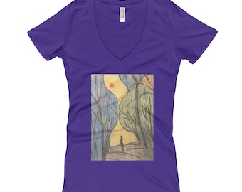 Women's Searching For Your Path Hand Drawn T-Shirt