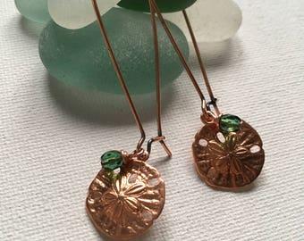 Copper Sand Dollar Earrings