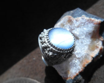 Old vintage ring with natural stone