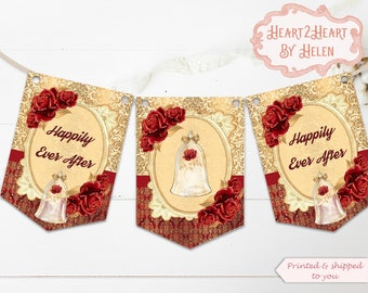 Beauty & The Beast Banner - Wedding Banner - Fairytale Wedding, Happily Ever After, Beauty and the Beast Wedding - Wedding Decoration