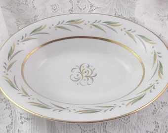 SALE - Royal Jackson Autumn Pattern Fine China Oval Vegetable Bowl - Gorgeous with Gold Accents - Was 22.50